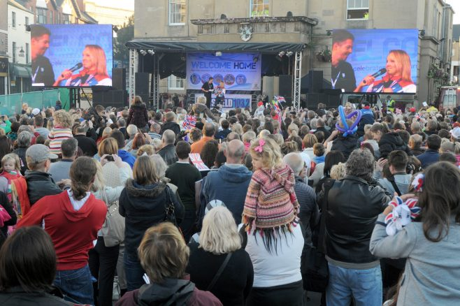 Celebrations in Mansfield Market Square | R Grayson