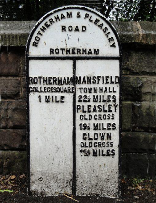 1st Mile Marker, Moorgate, Rotherham | Malcolm Marples