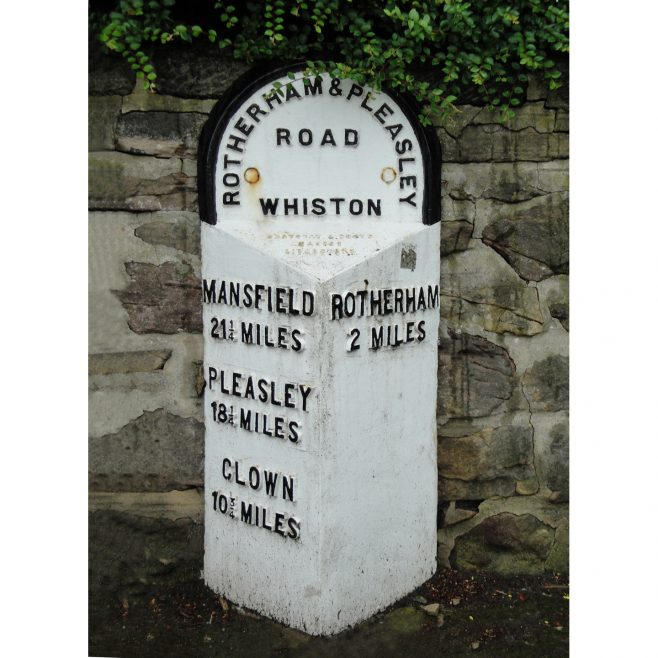 2 Mile Marker, Moorgate Road, Whiston. | Malcolm Marples