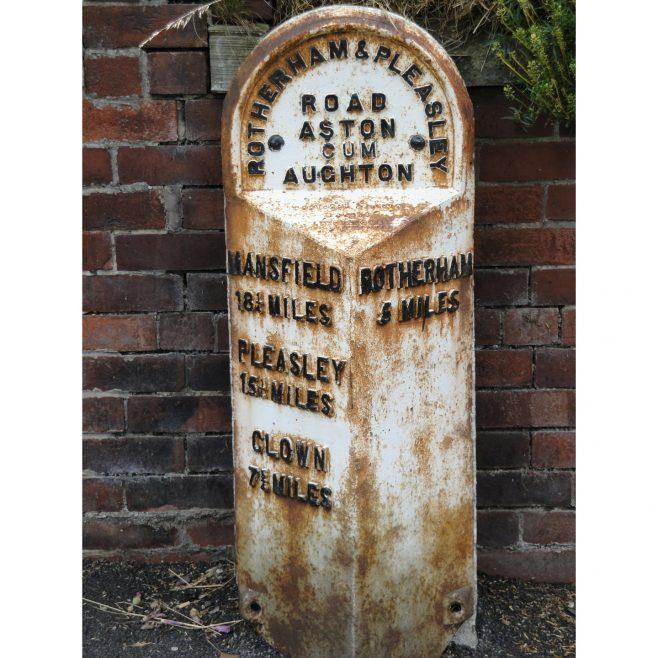 5 Mile Marker, Aughton Road, Aston-cum-Aughton. | Malcolm Marples