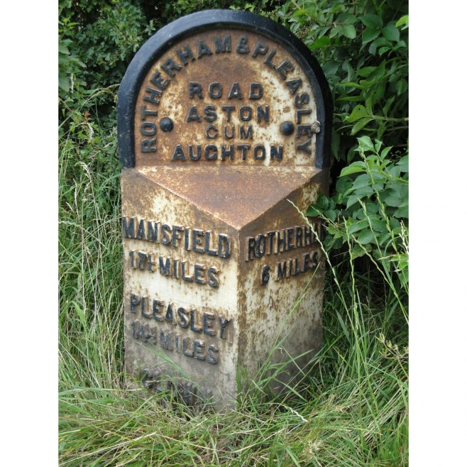 6 Mile Marker, Mansfield Road, Aston-cum-Aughton. | Malcolm Marples