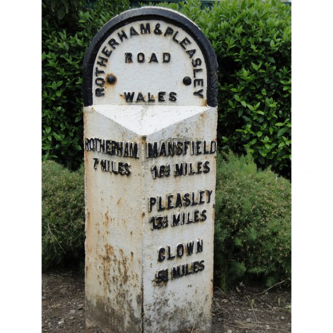 7 Mile Marker, Mansfield Road, Wales. | Malcolm Marples