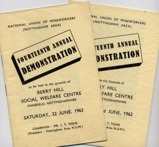 1962 & 1963 Programmes | Private Collection
