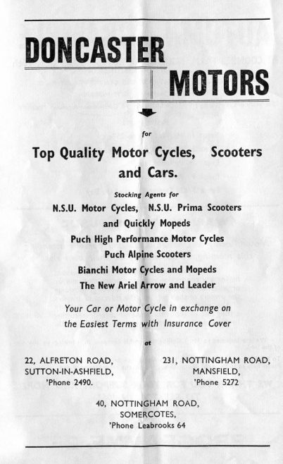 Mansfield Maun Motor Cycle & Car Club