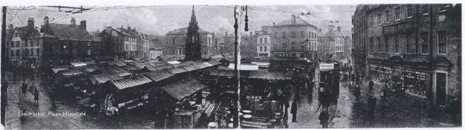 Mansfield Market Place - 1910