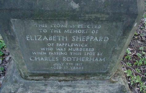 Elizabeth (Bessie) Sheppard - Memorial Stone.