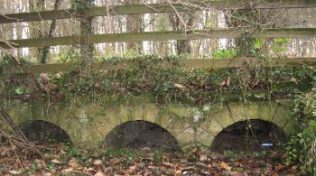 The culvert near Post O that was part of the Duke of Portland's water meadows scheme