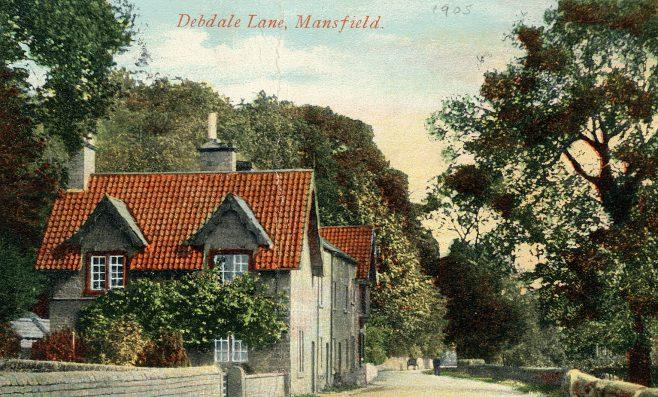 Debdale Lane, Mansfield circa 1905