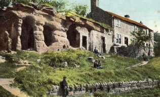 No 2.Rock Houses, Mansfield | Boots Cash Chemists 'Pelham' Series. Private Collection