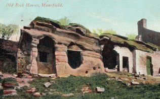 No 1. Old Rock Houses, Mansfield. Posted 1906/8 | Private Collection