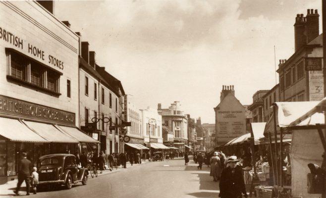 Westgate, Mansfield | Valentine's Post card