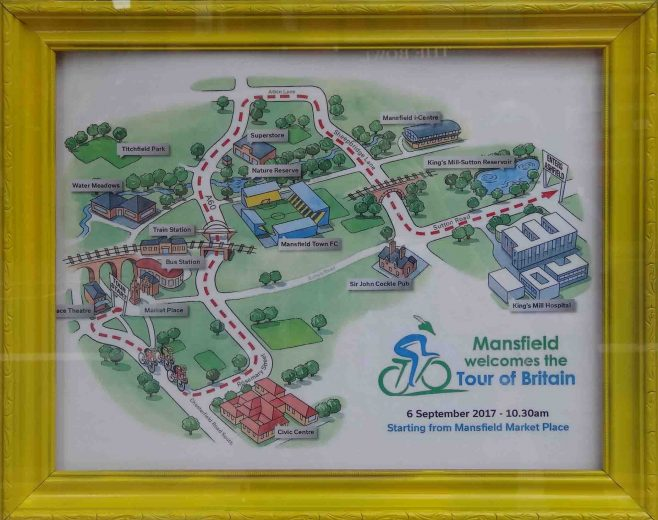 The Route in Mansfield Museum Window | P & M Marples