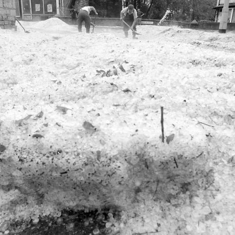 Freak hail storm Pleasely 1975 | Mansfield Chad
