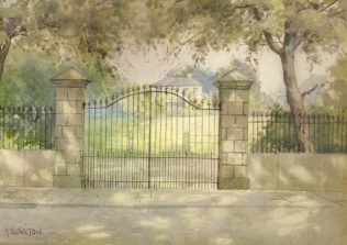 Iron Gates to Mr Ridsdale's house in Chesterfield Road, A S Buxton | Mansfield Museum