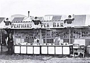 Peatmans stall on Chesterfield rd fairground