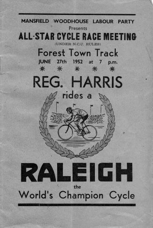 Track Programme 1952 | P Marples Collection