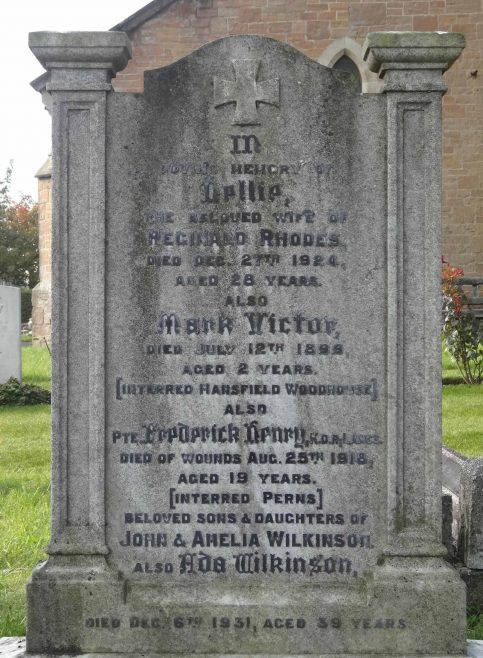 Frederick Henry Wilkinson, near the bottom of this memorial - original Churchyard | P Marples