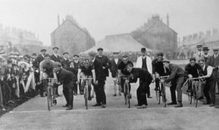 A Standing Start in the early years of cycling at Forest Town Track | P Marples Collection
