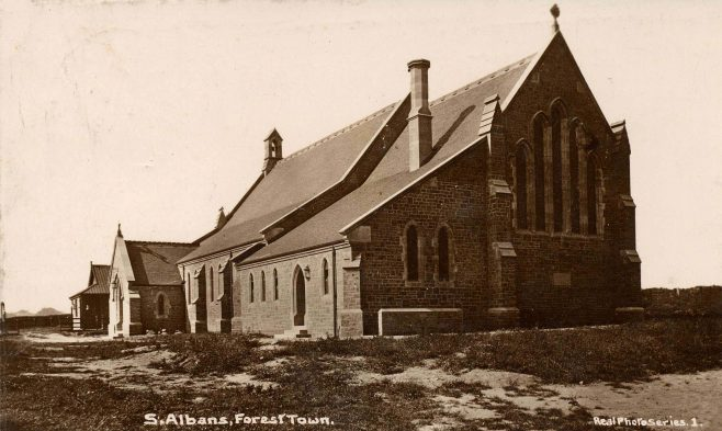 St Alban's Church just after its was built in 1911 | P Marples Collection