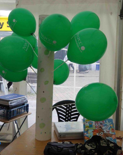 NSPCC balloons | P Marples