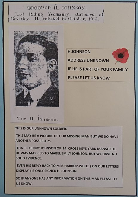 WW1 Missing Soldier