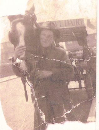 Arthur on his milk round, The Knoll 1940 - 42