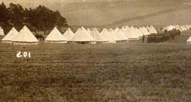 WW1 - Clipstone Camp 1915 - 2015 | Tents and soldiers in field