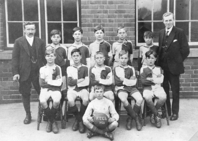 Mr Townsend is on the left of the picture, at Forest Town School in 1921 | Private collection