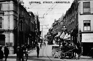 Leeming Street, after widening in about 1904 | Mansfield Museum