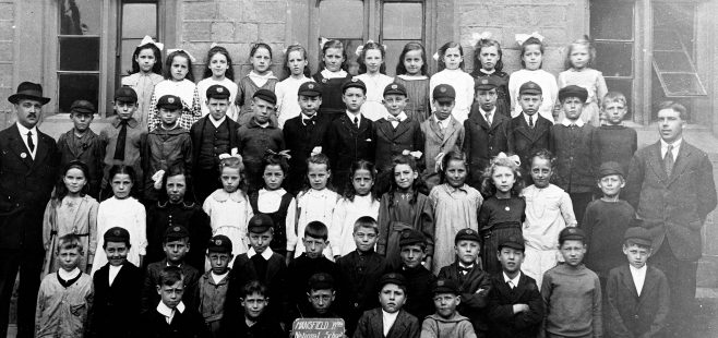 Class photograph, Woodhouse National School, c.1920 | Mansfield Museum
