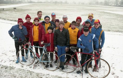 North Notts Cycling Club in the snow