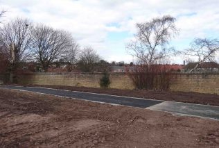 Old Boundary wall with new garden area in front - 30 March 2016 | P Marples