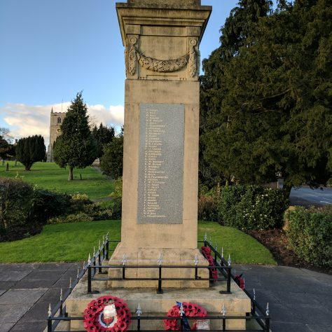 War Memorial, just outside the churchyard | Me