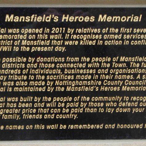 Memorial Plaque | M & P Marples - taken 14 November 2011