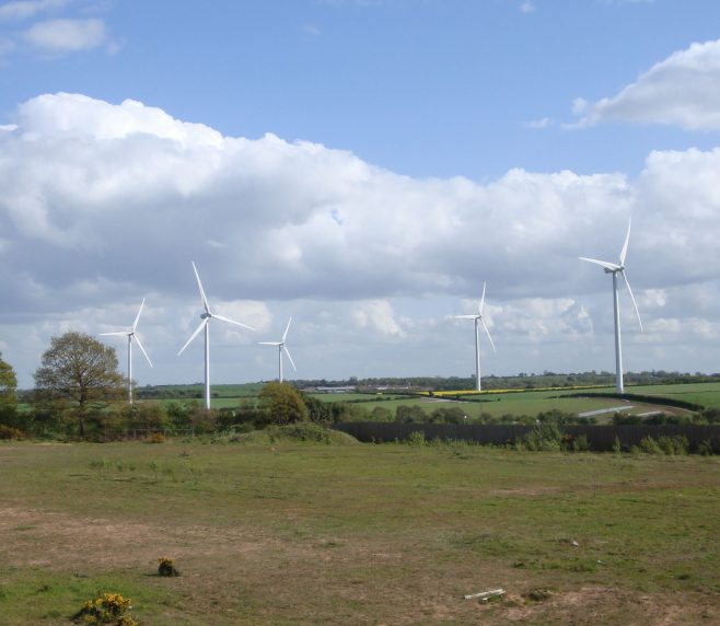 Windmills dominate the countryside near Soutwell Road, 14 May 2012 | M & P Marples