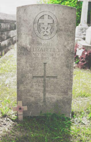Ada Elizabeth Young original headstone | P Marples