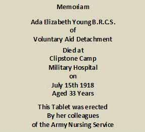 WW1 Ada Elizabeth Young