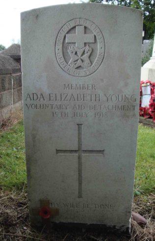 Ada Elizabeth Young corrected headstone | P Marples